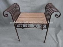 hot sale outdoor metal and wooden garden chair