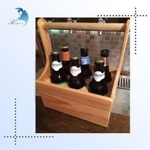 Small quantity cheap sample fee custom wooden wine holder rack,wood wine carrier