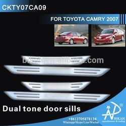 CHROME Dual tone door sills FOR TOYOTA CAMRY 2007 modify