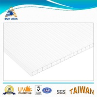 crystal uv coated twin wall polycarbonate hollow sheet