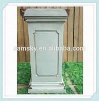 outdoor square antique granite gate pillars