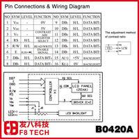 20 Characters 4 Lines LCD Display,No.B0420ADLYY-E