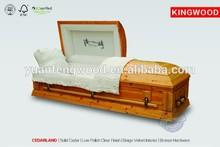 2015 cedar wood funeral coffin CEDARLAND antique chinese coffin solid wood casket