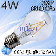 2015 UL ETL Lamp 360 Degree Lens Filament Lamp CRI>80Ra 100LM/W 230V 240V Epistar COB Candle LED Light 400 Lumens E12