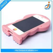 Animal shaped cheap silicone decorate cell phone case