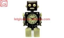 High quality zinc alloy movable robot alarm funny clock