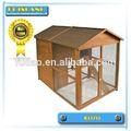 Patio trasero de lujo de madera de pollo coop/casa de gallina con correr al aire libre