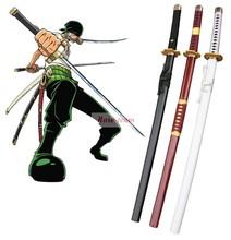 ShunShineFun-Free Shipping One Piece Roronoa Zoro Three Sword Style Wooden Weapons Anime Cosplay Accessories