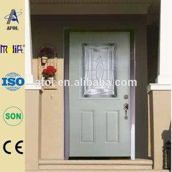 Zhejiang AFOL Latest American Door Design Dcorative PVC Steel Door Interior Frosted Glass Door