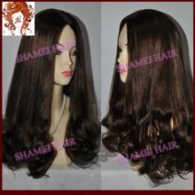 2015 Popular Style New Design Silk Top Beautiful Wave European Hair Jewish Kosher Human Hair Wigs