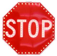 Solar flashing led stop signs