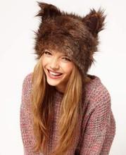 2015 New Winter Fur Faux Fashion bear ear hat Pattern SV010903