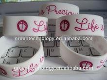 Custom QR code soft silicone rubber bracelets
