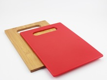 bamboo plastic cutting board set of two
