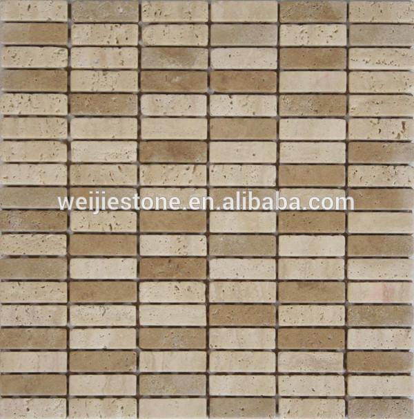 Decoracion Baño Rectangular:Travertino que hace rectangular mosaico de azulejos para el baño