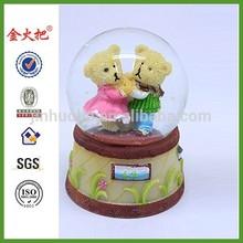 Wedding Day Pure Love Bears Snow Globe Water globe Figurine Ornament