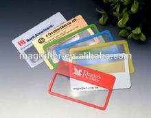 promotion Wallet magnifying glass credit card plastic PVC fresnel lens magnifier