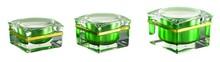Square shape acrylic cream jar acrylic jar plastic container 15g 30g 50g