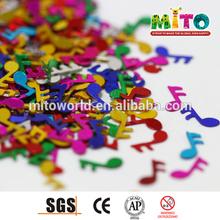 China Manufacturer decorative music note confetti bulk