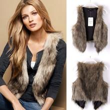 2015 Womens Winter Warm Faux Fur Short Beautiful Women Vest SV005512