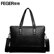 9806-3 genuine leather men hand bags for business