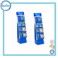 Floor Cardboard Cell Phone Accessory Display Rack With Hook