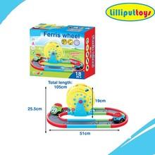 Cartoon plastic railway car toys battery operation car toys for kids
