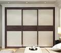 blanc brillant armoire en bois coulissantes penderie porte