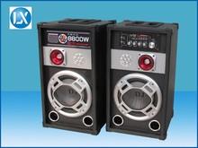 8 inch builtin amplifier active DJ speaker with USB port