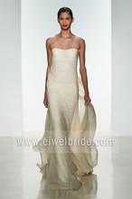 New Arrival A-Line Sleeveless See Through Back China Guangzhou Wedding Dress AM009