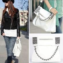 2015 Fashion Korean Style Lady Women PU Leather White Wholesale Handbag China 4171