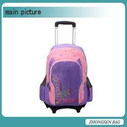 CUTE!!wheel torlley backpack little fashion kids trolley backpack