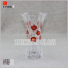 9 Inch glass vase for wedding decoration rose color glass vase