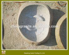 hand carved garden/outdoor natural stone birdbath