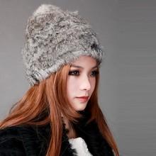 NEW Knitted HAT CAP Women Winter Hight Quality Warm Fashion fur cap SV005863