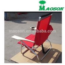 wholesale 2015 aluminium folding backpack chair with wood armrest
