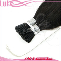 100% Indian Virgin Remy Hair I-Tip Hair Extensions Stick Hair Extensions