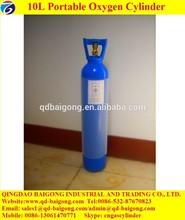 Blue Color Hospital and Ambulance Using Medical Grade Small Oxygen Cylinder