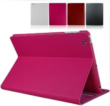 HOT! Ultra thin genuine leather case for ipad 3