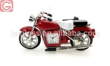 Luxury zinc alloy motorbike metal table clock