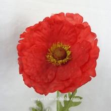 "25"" Hx4.5"" DIA. Artificial Poppy Flower, Garden Flower Poppy, Red Poppy Flower Decoration"