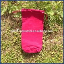 Custom best quality velvet wine bottle bags/pouches