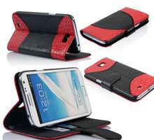 fashion crocodile leather phone wallet case for Samsung galaxy note 2 N7100