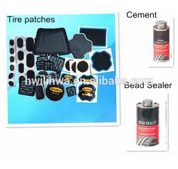 Vulcanizing tire repair patches
