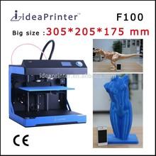 Fast speed 300mm/s & High resolution 0.02 mm 3d printer