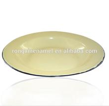 Enamel soup plate dinner plate soup dish