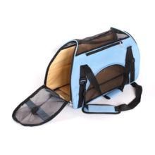 New Design pet carrier bag folding metal mesh dog cage