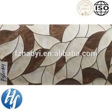 Hy15-247 ванная комната 3D струйный creamic белый и кофе листья декоративная керамическая плитка