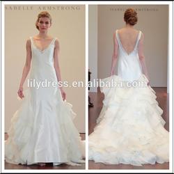 A-Line V-Neck Wide Straps Simple Design Elegant Tailored Bridal Dresses Wedding Gown WDZ137 Vestido De Noiva Curto