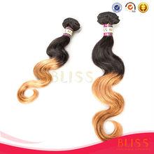 3 bundles brazilian hair meche, two tone color 613 blonde hair weave